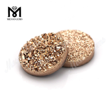 12MM Round Rose Gold Natural Druzy Stone