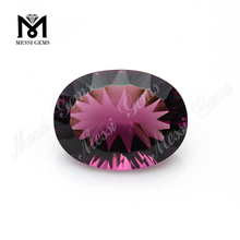 Oval Millenium Cut Amethyst Glass stone for jewelry