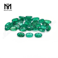 3x5mm oval cut natural loose gemstone green agate stone price