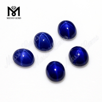 Factory Price 8x10mm Oval Shape Blue Star Sapphire Stone