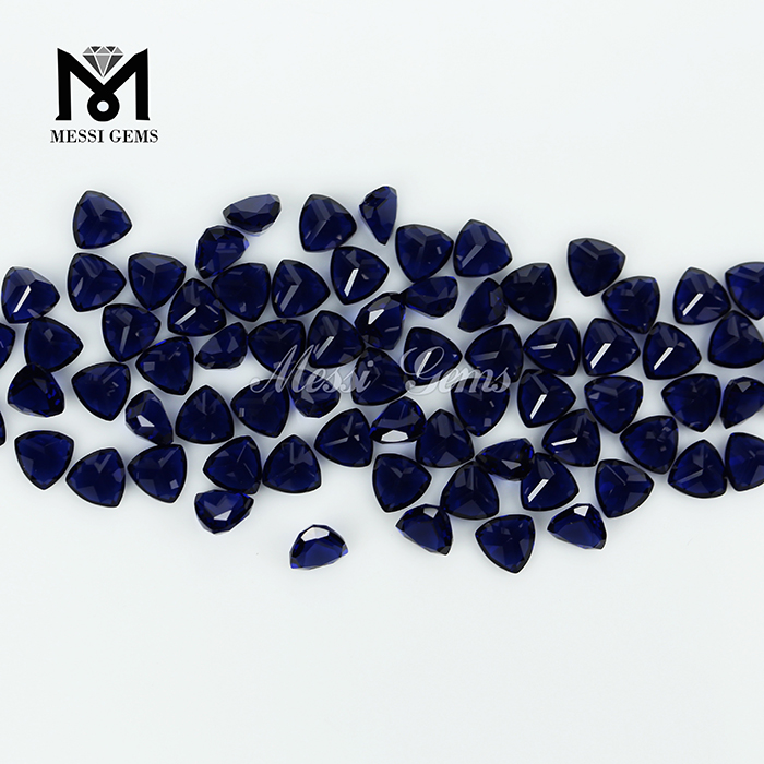 wholesale loose synthetic gems bule nano stone