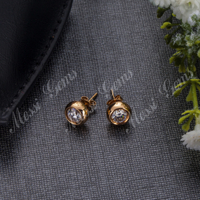 18k real gold jewelry Moissainite diamond earing