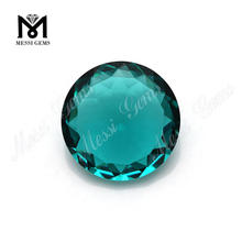 Wholesale Loose Glass Stone Round Green Paraiba Gemstone
