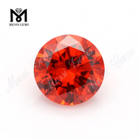 AAA 1mm round color cz stone loose cheap cubic zirconia gemstone
