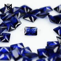 Heat Resistant Synthetic Rectangle Sapphire Blue Nano Gems