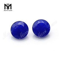 round cut 8mm blue natural jade loose stones jade price