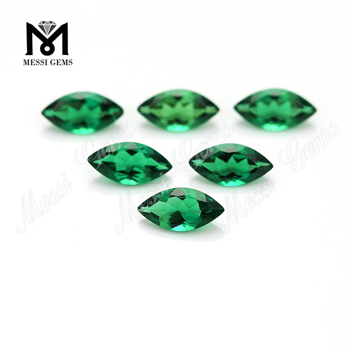 Marquise 5 x 10 mm Hydrothermal Russia Emerald Stone