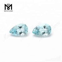 Wuzhou factory loose gemstones 8*12mm pear aquamarine stone price