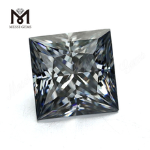 Wholesale Price DEF Brilliant Square Cut Loose Colored Grey synthetic Moissanite price per carat