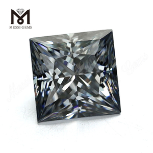 Wholesale Price DEF Brilliant Square Cut Loose Colored Grey synthetic moissanite diamond price per carat