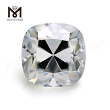 Old Mine Cushion Cut White Solitaire Moissanite DEF Color