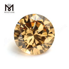 Round Brilliant Cut champagne Colored Synthetic Moissanite vv2 gemstone