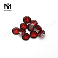 Round Cut Natural Mozambique Red Gemstones For Pendent