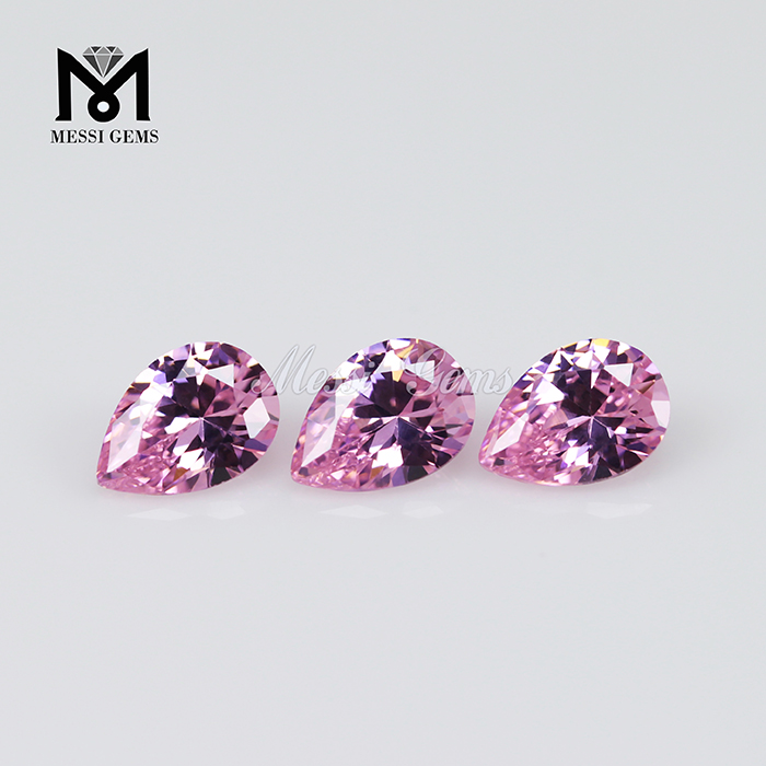 Hot Sale Factory Price Pear CZ Gemstone Pink Gemstones India