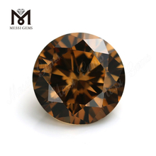 Wholesale Cubic Zirconia Price Synthetic Round 4.0mm Brown CZ Stone