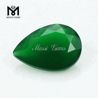 Factory Direct Sell Loose Gems Pear Cut 10 x 14mm Green Agate Stone