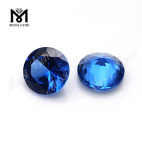 wholesale round shape 119# synthetic 10mm blue spinel gemstone