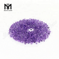 Machine Cut Round Loose Natural Amethyst Gemstones