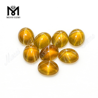 Chinese Synthetic Yellow Color Star Sapphire Stones Price For Jewelry