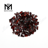 factory price trapezoid cut natural loose red garnet stones