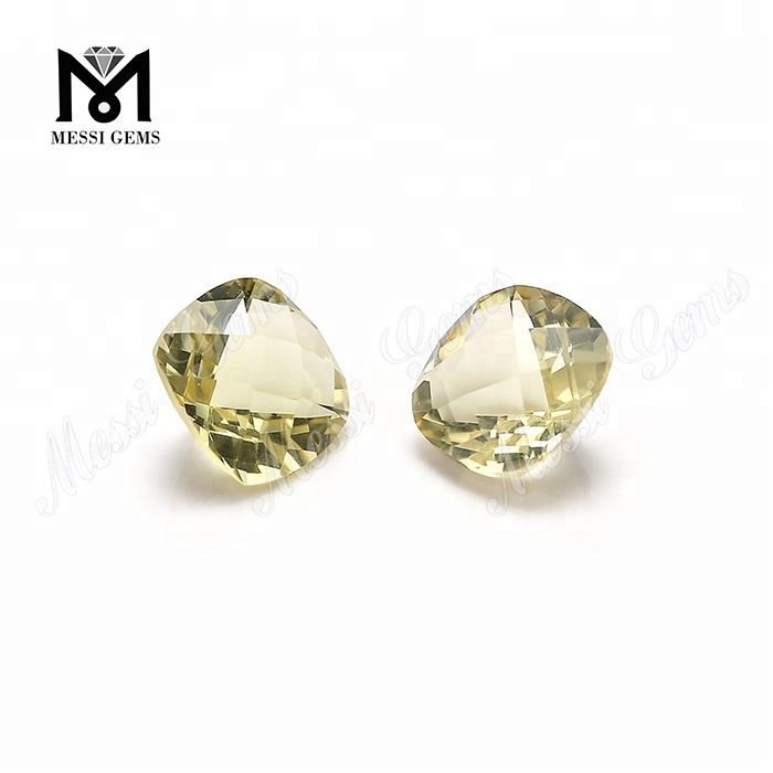 Cushion Checker Cut Loose Lemon Quartz Crystal Quartz Gemstones
