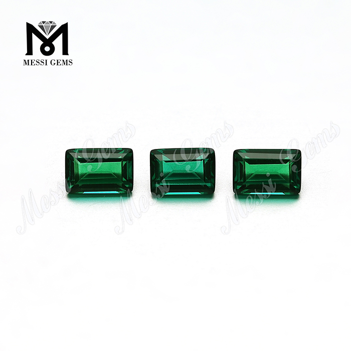 Hot selling wholesale 4*6 bagutte cut emerald price per carat