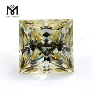 Chinese Yellow Colored Moissanites Stones Lab Made Gemstones