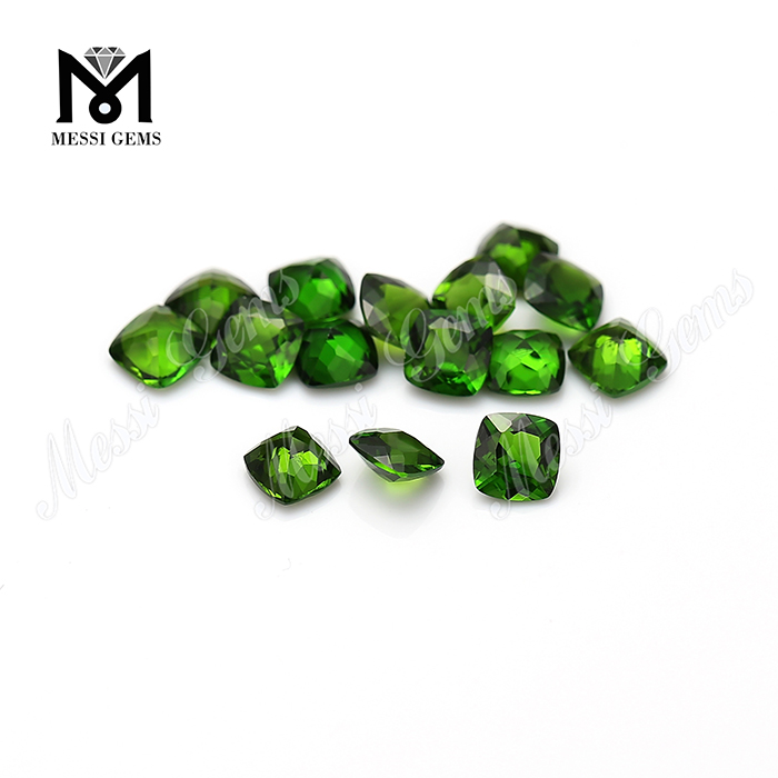 High quality 4mm cushion cut natural chrome diopside loose gemstone
