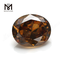 Loose CZ Oval Faceted 12 x 14 mm Coffee Cubic Zirconia Stone Price