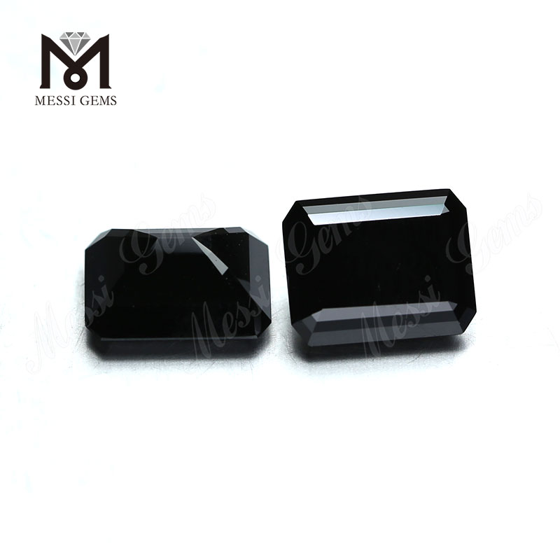 Wholesale Price moissanite diamond Synthetic Loose Emerald Cut Black VVS Moissanite