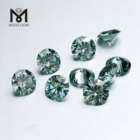 Loose moissanite diamond Round Brilliant Cut 5mm Gemstone Green Moissanite Rough