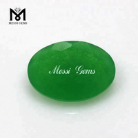 Wholesale Price Green Quartz Oval Cut 10*14 mm Loose Jade Gemstones