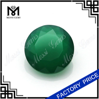 8mm round cut chinese green natural agate stone