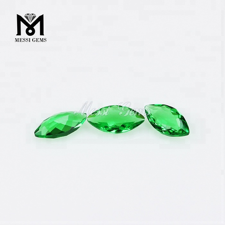 Loose Gemstones Marquise Cut 4 x 8mm Emerald Color Glass Stone