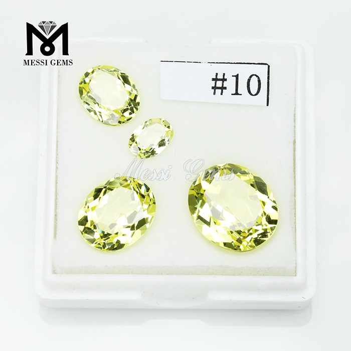 Factory price 10# Canary Yellow Nanosital synthetic nano sital gemstone