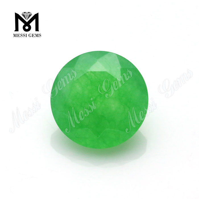 8mm Round Natural Cut Green Jade Nature Stones For Jewelry Making