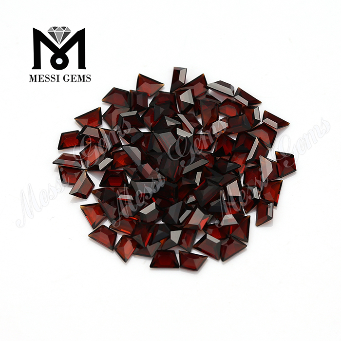 Eye clean small trapezoid cut natural stones red garnet price