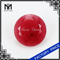 15MM round natural Red Malaysia jade dyed stone