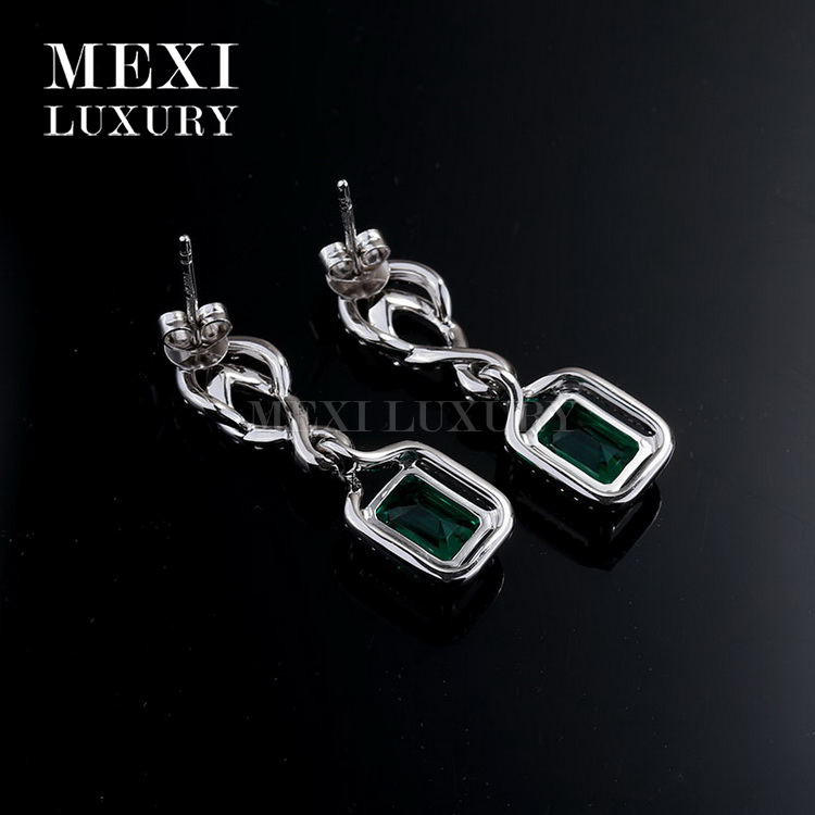18k white gold earing necklace fashion earring