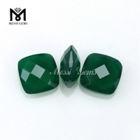Noble Faceted Loose Stone Cushion 8 x 8mm Emerald Agate