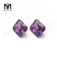 octagon cut 8x10mm color change synthetic alexandrite corundum stone