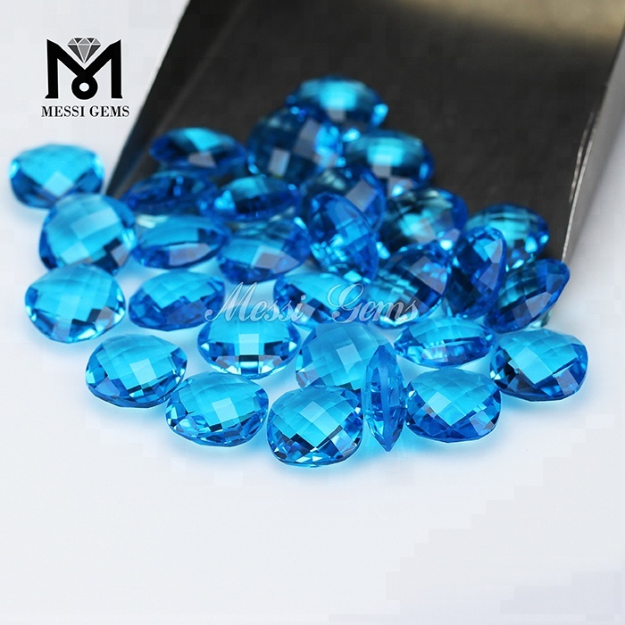 12*12 wholesale synthetic cushion cut glass stone