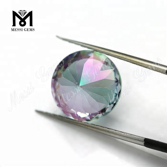 High table plating gemstone stones artificial mystic glass stone