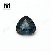 loose gemstones heart shaped natural london blue topaz stone