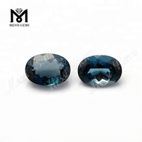 oval shape 8x10mm natural london blue topaz stones