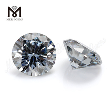 wholesale stock price 8mm 2 carats loose grey moissanite