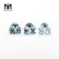China Factory Hand cut Trillion cut Natural Aquamarine gemstone