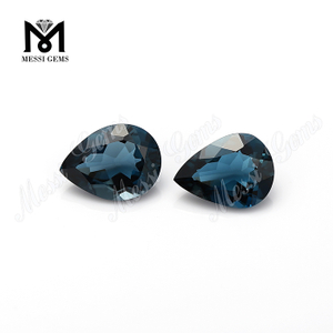pear cut large sizes blue topaz london natural gemstones