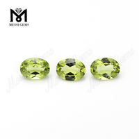 Guangzhou Eye Clean Quality Oval 6x8mm Olivine Stone Natural Olivine Stone Price