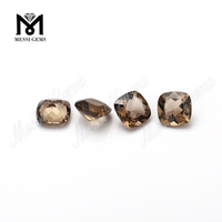cushion cut 6x6mm smoky quartz loose natural crystal stones